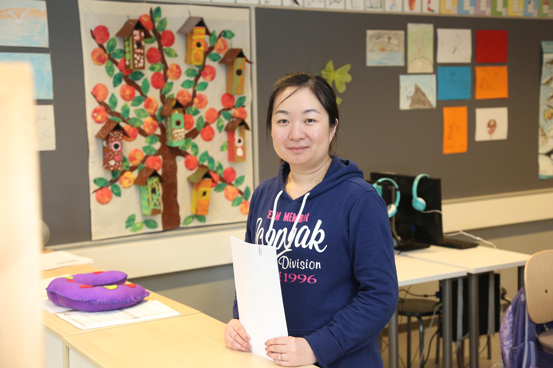 BingLing Jiang maahanmuuttajien valmentavassa koulutuksessa