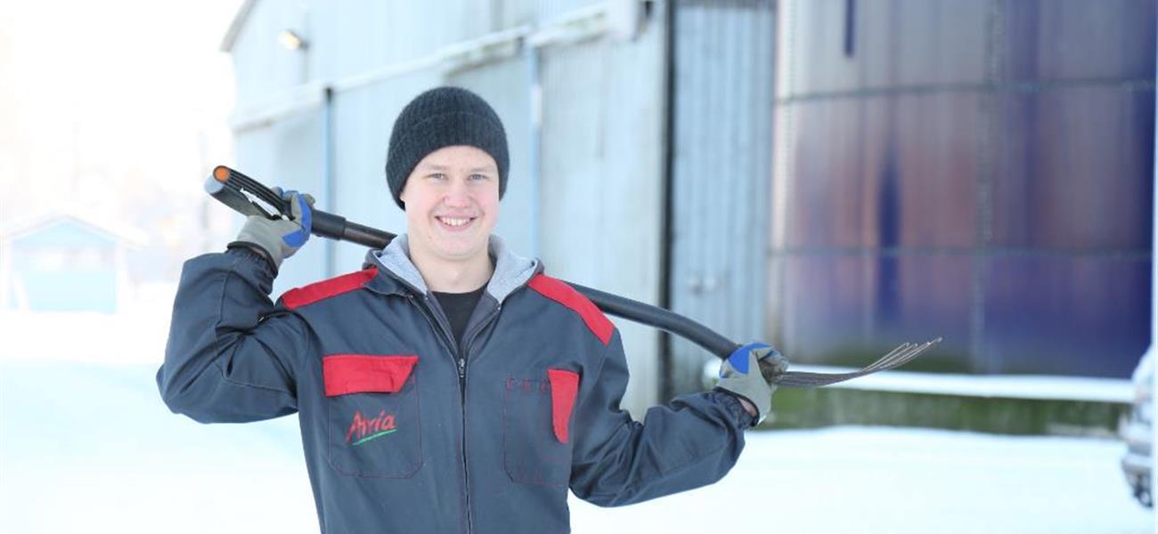 Jesse Suominen opiskelee maatalousalaa
