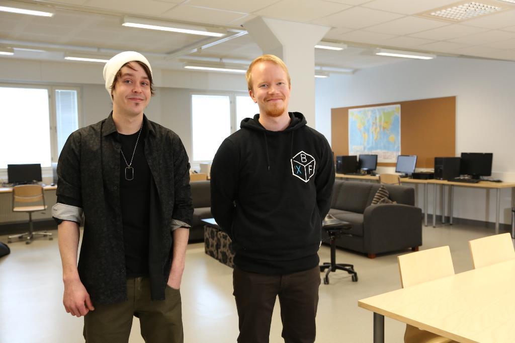Joona Penttilä ja Andreas Ingers Valman luokassa