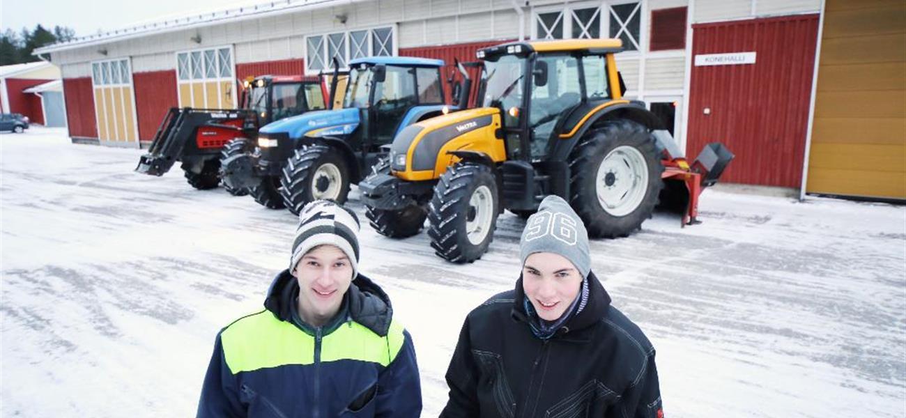 Miikka Kinnunen ja Lauri Vasalampi opiskelevat maaseutuyrittäjiksi